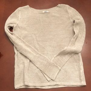 Old Navy light tan cable knit sweater S L/S